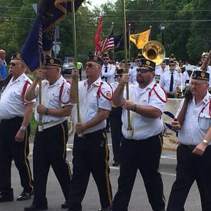 Pecoraro marching with Sikora Legion Post Leading Tonawandas Me