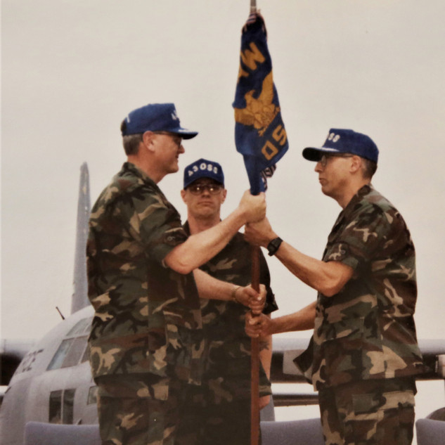 Pecoraro taking Command 43 Operational Support Sq