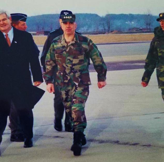 Bob Pecoraro escorting House Speaker Newt Gingrich
