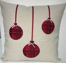 Cushion - Chrismas Red Baubles.jpg