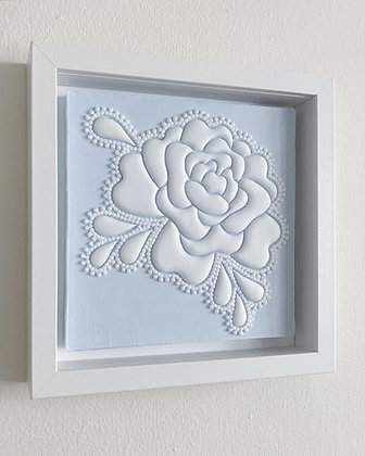 Mini Floral Piece - Beaded Edge Study