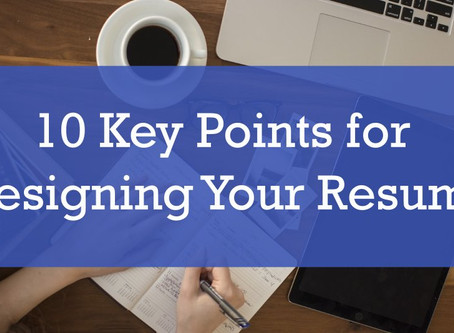 10 Key Points for Designing Your Resume