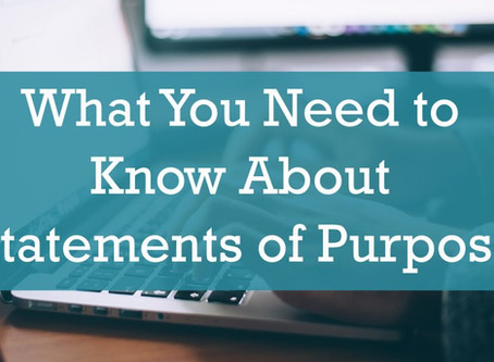 What You Need to Know About Statements of Purpose for College Applications