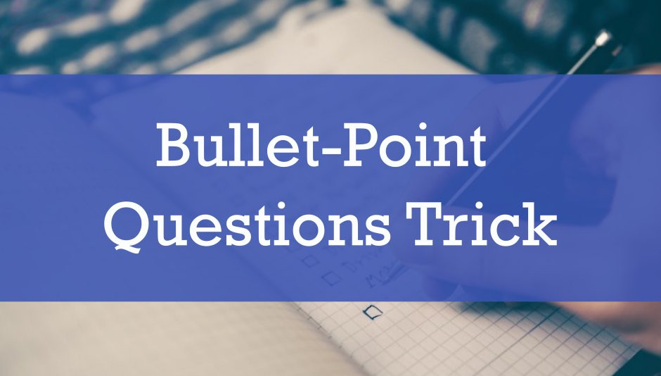 Use bullet-points to get your ideas flowing.