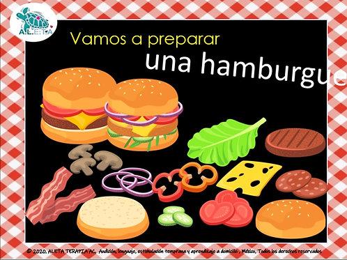 Preparando hamburguesas