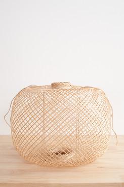 Round Bamboo Pendant Light