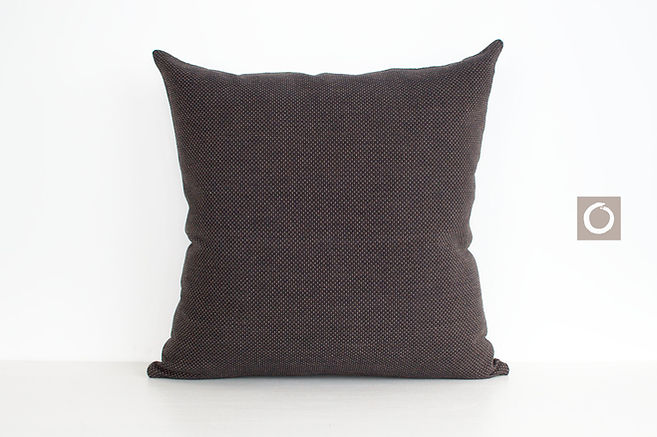 "Dark Brown Dotted Pattern Pillow Cover 18"" x 18"""