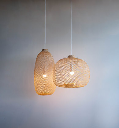Set of 88 bamboo lamps for Bandit Lites