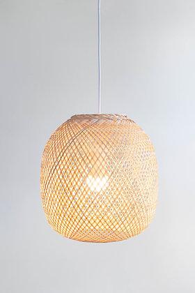 PL07 - Round Bamboo Pendant Light, Boho Asian Lantern
