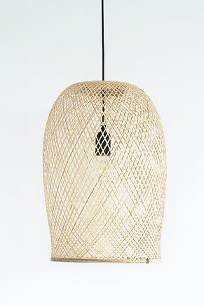 PL18 - Flexible Bamboo Pendant Light, Open bottom