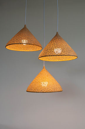 PL09 - Bamboo Pendant Lamp Hat Shape