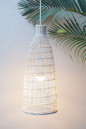 PL04 - White Washed Fine Fish-Trap Pendant Light