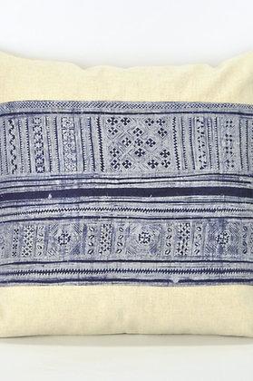 """Miao Indigo Batik Textile Pillow Cover 18"""" x 18"""""""