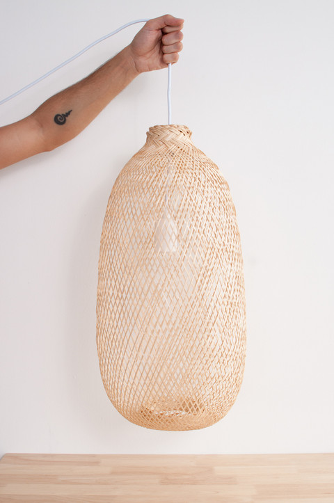 Holding Bamboo Pendant Light