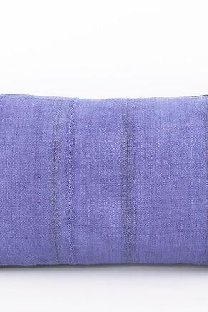 """Vintage Hmong Blue Hemp Lumbar Pillow Cover 18"""" x 10"""""""