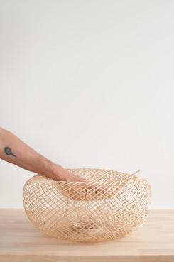 Flexible Pendant Bamboo Basket Lamp