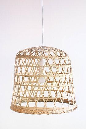 PL13 - Market Basket Bamboo Pendant Lamp, Natural Asian Lantern