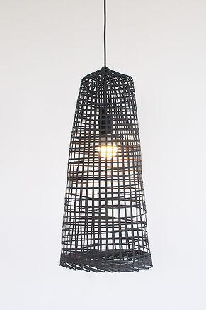 PL16 - Black Fish-Trap Bamboo Pendant Light