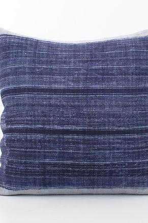 """Vintage Hmong Hemp Batik Pillow Case 20"""" x 20"""""""