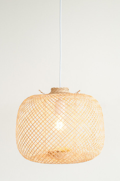 Spherical Bamboo Pendant Light