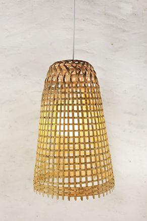 PL01 - Rustic Bamboo Pendant Light, Thai Fish-trap Lamp