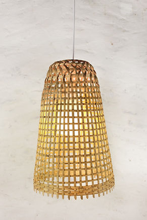 PL01 - Rustic Bamboo Pendant Light, Thai Fish-trap Lamp
