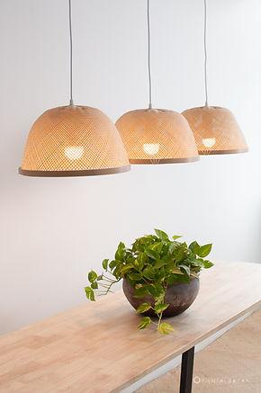 PL10 - Bamboo Bowl Pendant Light