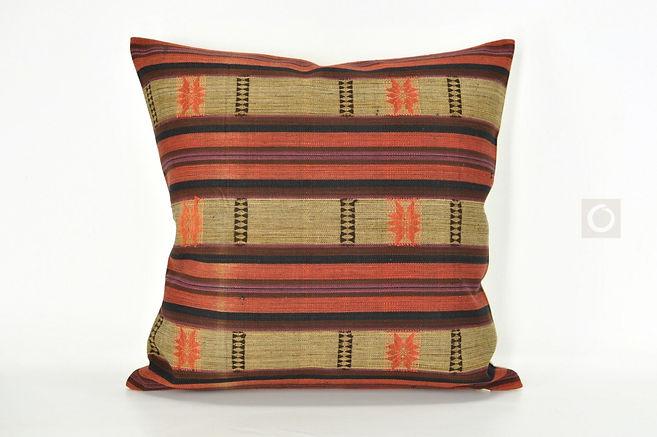 """Handwoven Naga Cotton Cushion from Burma 18"""" x 18"""" / 460"""
