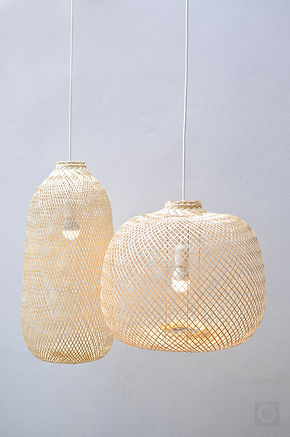 PL05 - Flexible Bamboo Pendant Light, Boho Asian Lantern