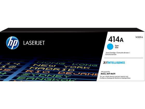 HP 414A Cyan Original LaserJet Toner Cartridge (W2021A)