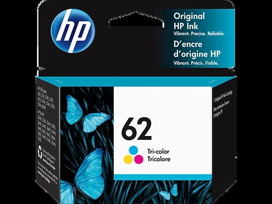HP 62 Tri-color Original Ink Cartridge (C2P06AN)