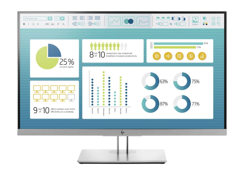 "HP EliteDisplay E273 - LED monitor - Full HD (1080p) - 27"""