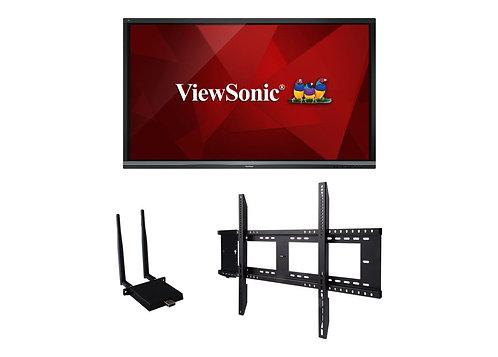 ViewSonic ViewBoard IFP8650-E1 Interactive Flat Panel Education Bundle with