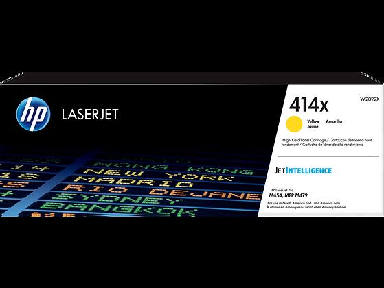 HP 414X High Yield Yellow Original LaserJet Toner Cartridge (W2022X)