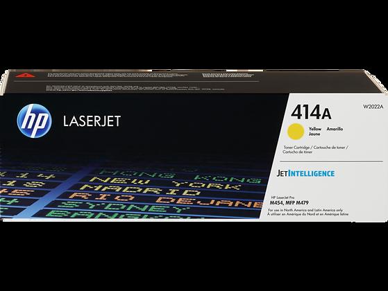 HP 414A Yellow Original LaserJet Toner Cartridge (W2022A)
