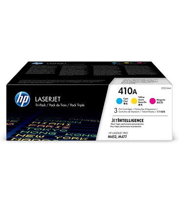 HP 410A 3-pack Cyan/Magenta/Yellow Original LaserJet Toner Cartridges (CF251AM)