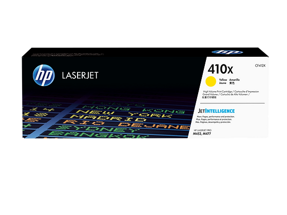 HP 410X High Yield Yellow Original LaserJet Toner Cartridge (CF412X)
