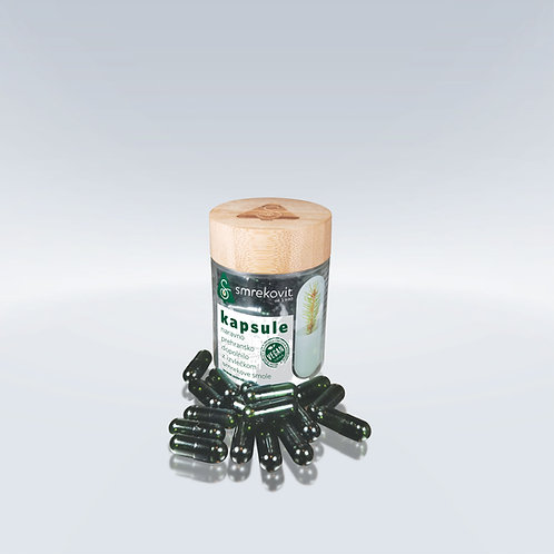 Smrekovit smrekove kapsule s smrekovo smolo | VEGAN certifikat