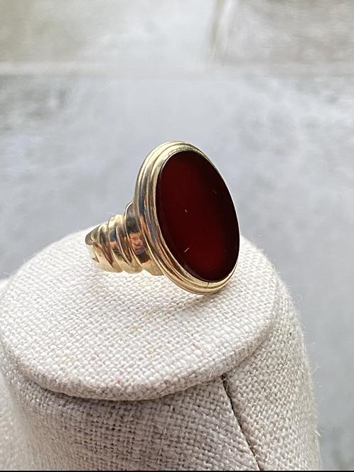carnelian signet ring 10k