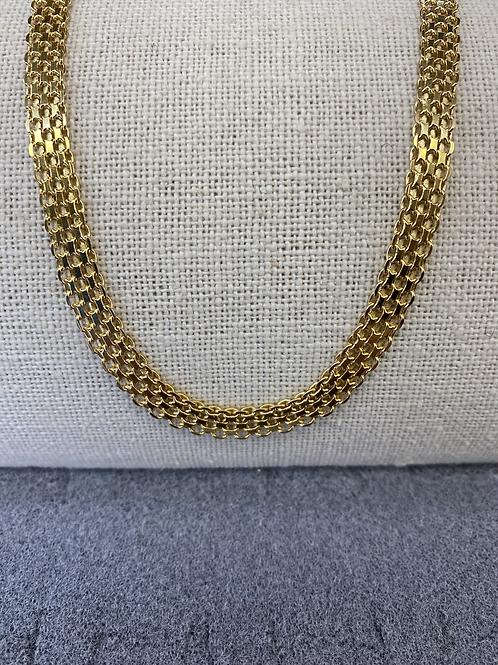 Mesh 18k necklace