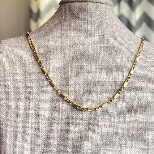 """Link neckchain 14k yellow gold 22"""""""