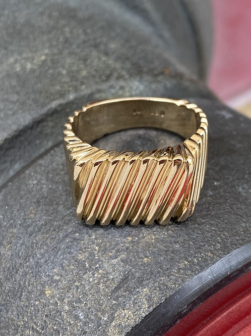 Solid 14k Cable ring