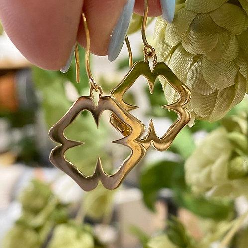 Clover 18k earrings