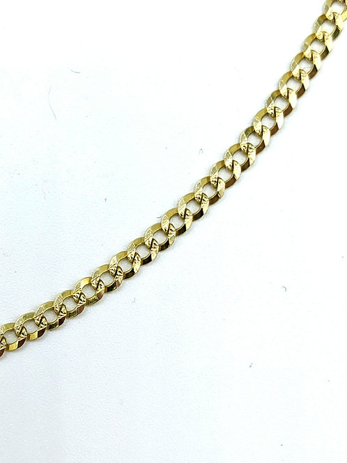 """Neckchain 20"""" curb link 14k solid gold 3mm"""