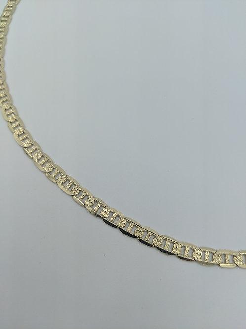 "Neckchain Mariner link 14k solid gold 20"" 5mm"