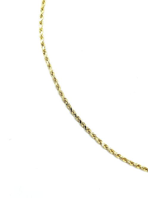 """Rope neckchain 14k yellow gold 2mm 20"""""""