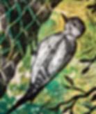 Woodpecker linoprint.