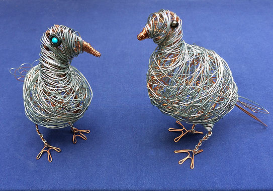 Hello Birds. Wire sculpture.