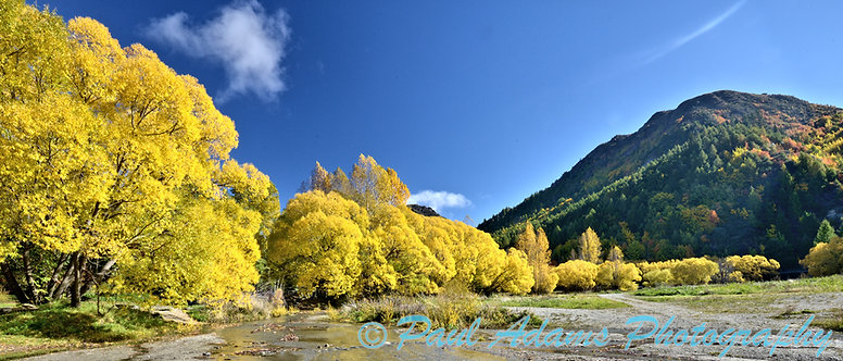 Autumn panorama - Arrowtown, South Island