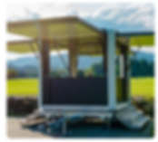 Cubox kiosque mobile autonome et photovoltaïque